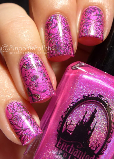 MoYou Artist 11, stamping, Enchanted Polish, Disco Barbie