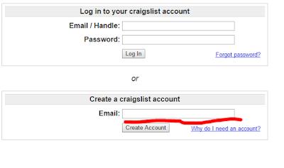 Craigslist log in signup sign in | www.craigslist.org login Create CRAIGSLIST account