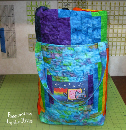 Nyan Cat tote with quilt inside