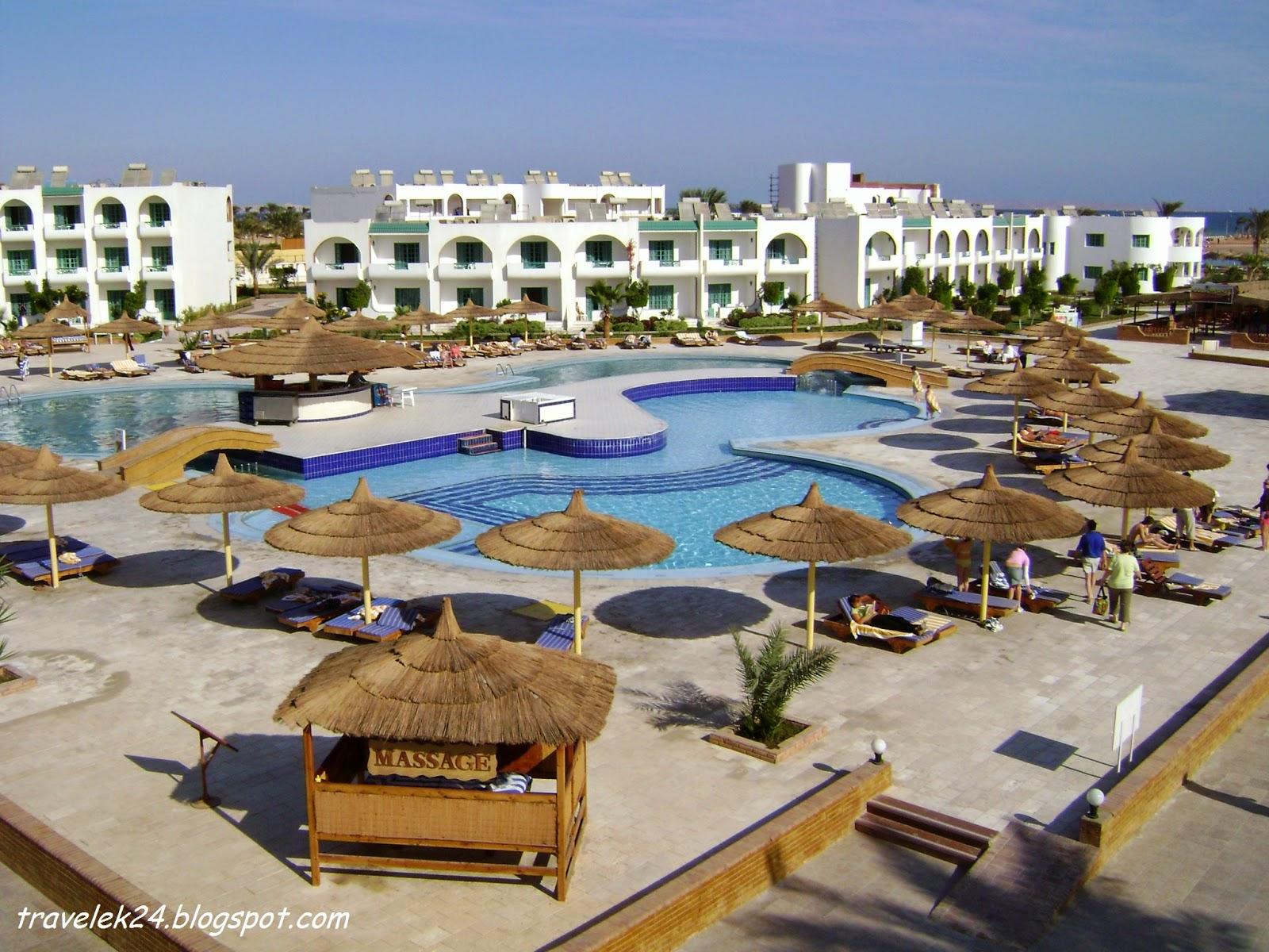 Kompleks hotelowy w Hurghadzie, Egipt