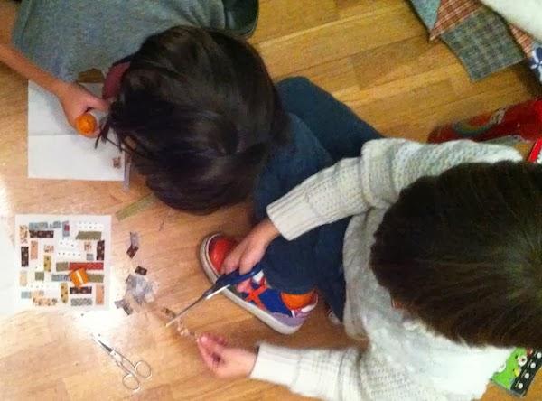 children doing patchwork