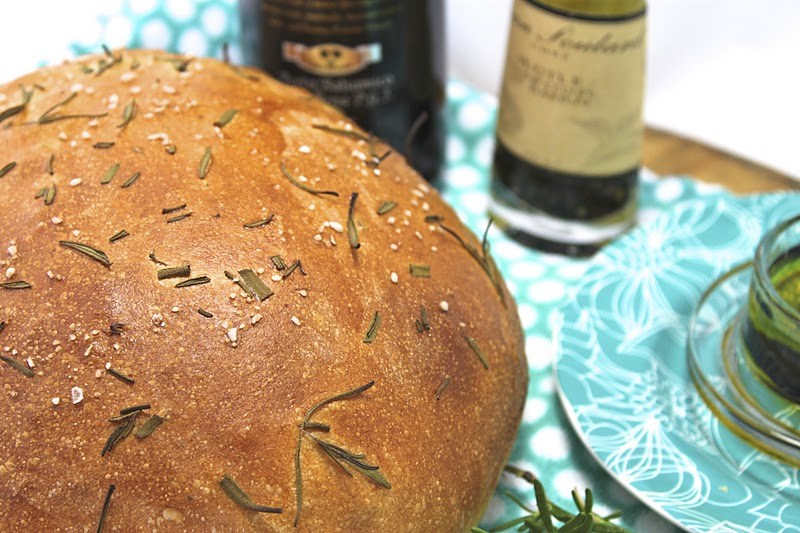 Olive Oil And Rosemary Artisan Bread European Style With Fresh Perfect For