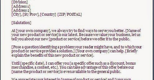 Every Bit Of Life New Product Introduction Letter To Customer