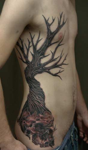 Best tattoos for men dead tree tattoos for Death tree tattoo