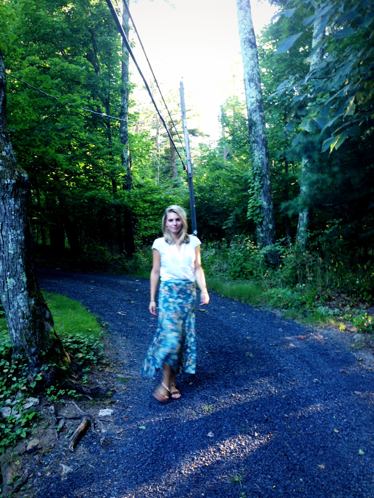 country attire flowing maxi skirt cottage life