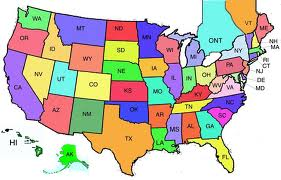 Us State Map - Us fifty states map