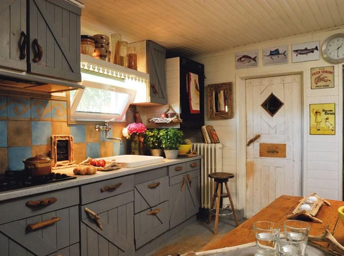 Estilo rustico casas de campo rusticas Amenager cuisine vieux meubles