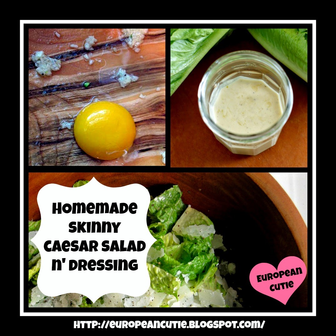 safest choice eggs & homemade skinny caesar salad n' dressing ♥