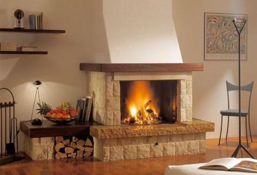 Decorando dormitorios dise os de chimeneas para el hogar - Como colocar una chimenea de lena ...