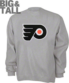 Big and Tall Philadelphia Flyers Gray Sweatshirt