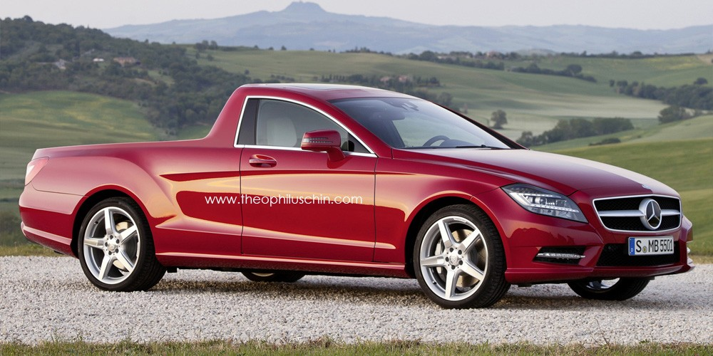 s carros unicos mercedes cls pick up. Black Bedroom Furniture Sets. Home Design Ideas