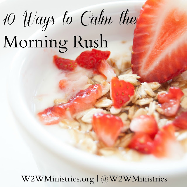 10 ways to calm the morning rush. #parenting #family #backtoschool