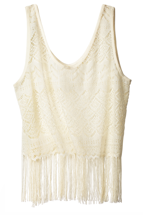 Fringed Vest Top H&m