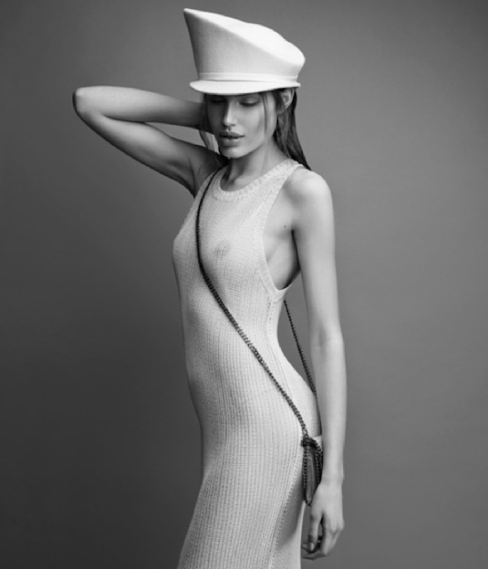 Fetish Inspiration : Model Maja Krag With White Hat