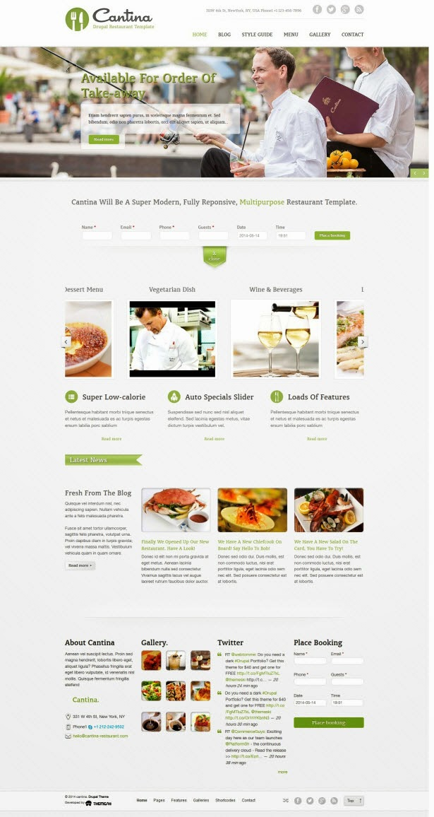 Cantina - Food & Restaurant Drupal Theme