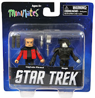 Diamond Select Star Trek Legacy Minimates - Captain Picard & Borg Hugh Figures
