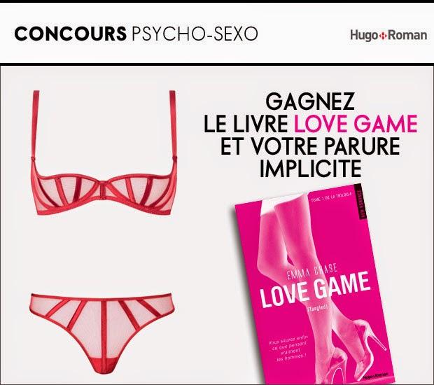 """10 parures de lingerie Implicite avec 1 livre """"Love Game"""" + 50 parures de lingerie"""