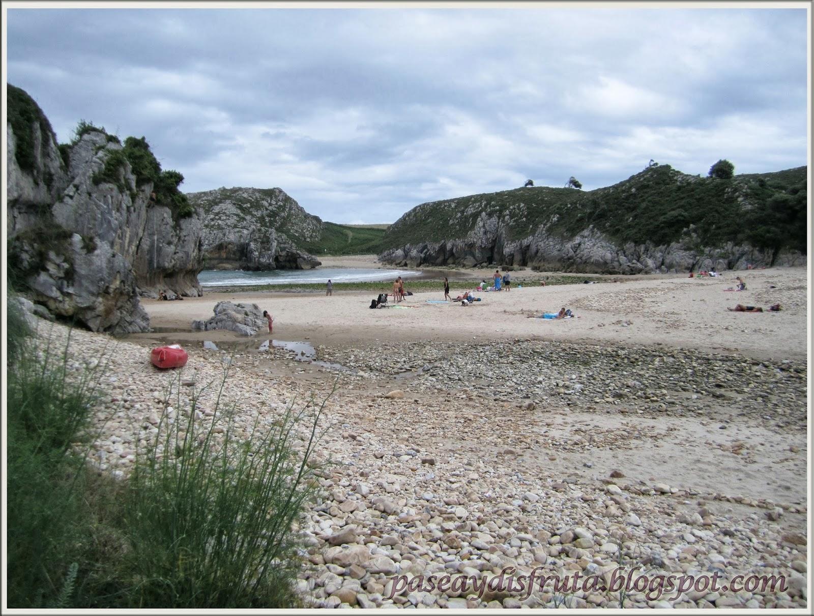 Mis paseos por asturias playa de guadam a desde cuevas for Viveros en asturias
