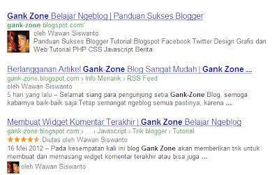 Menampilkan Gambar Profil di Hasil Pencarian Google