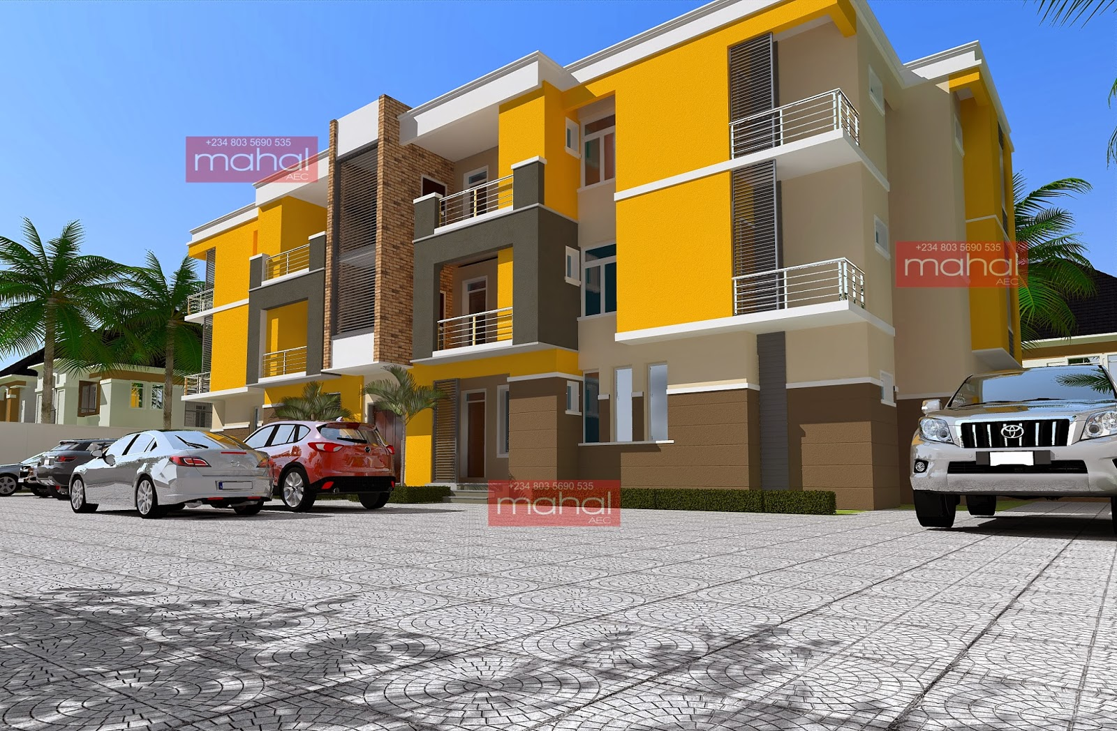 Contemporary nigerian residential architecture january 2014 for Apartment plans in nigeria