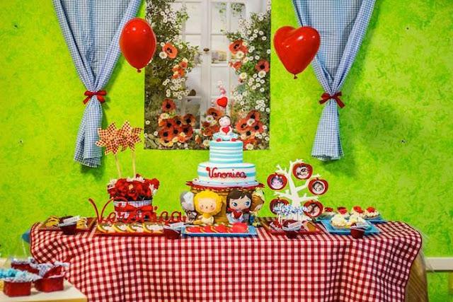 decoração festa magico de oz