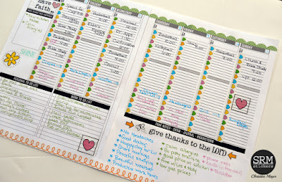 SRM Stickers Blog - Planner Pages with Gratitude Journal by Christine - #planner #journal #stickers #faith #DIY