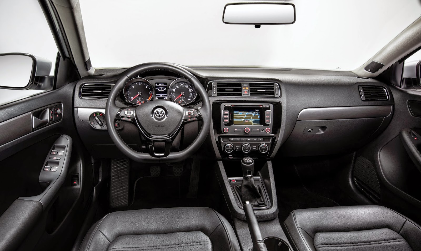 Interior view of 2015 Volkswagen Jetta 1.8T (manual transmission shown)