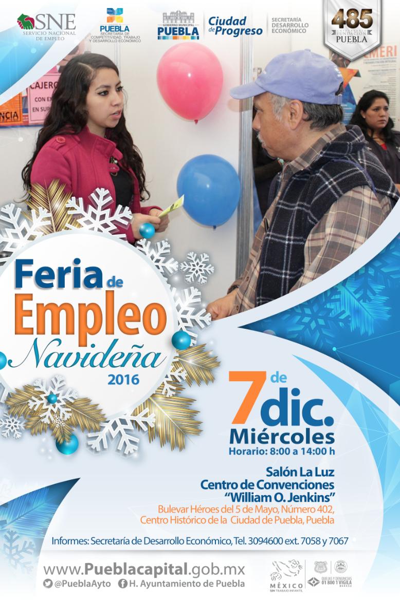 Ayuntamiento de Puebla anuncia Feria del Empleo Navideña