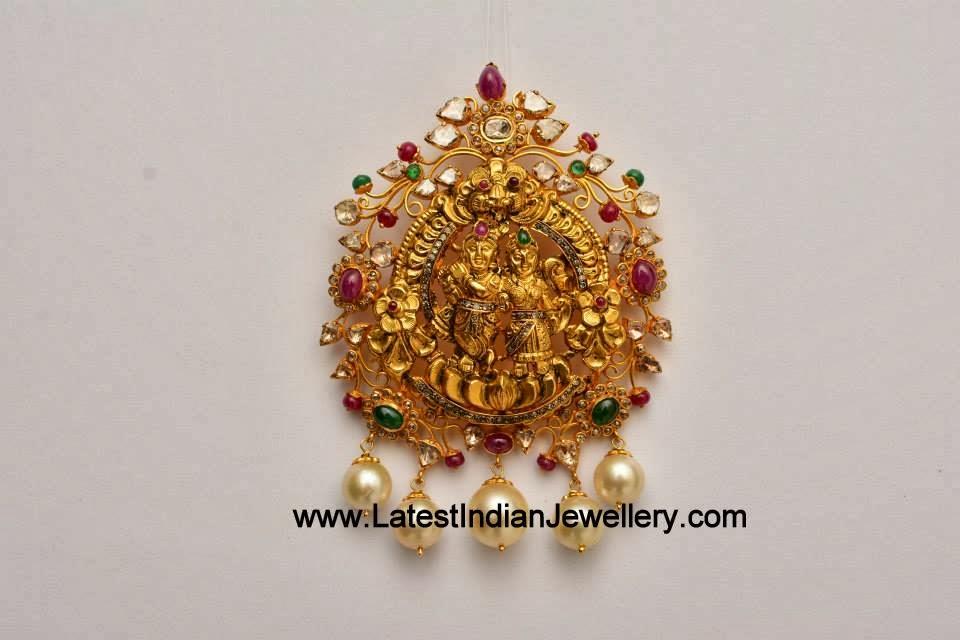 Radha Krishna Temple Pendant