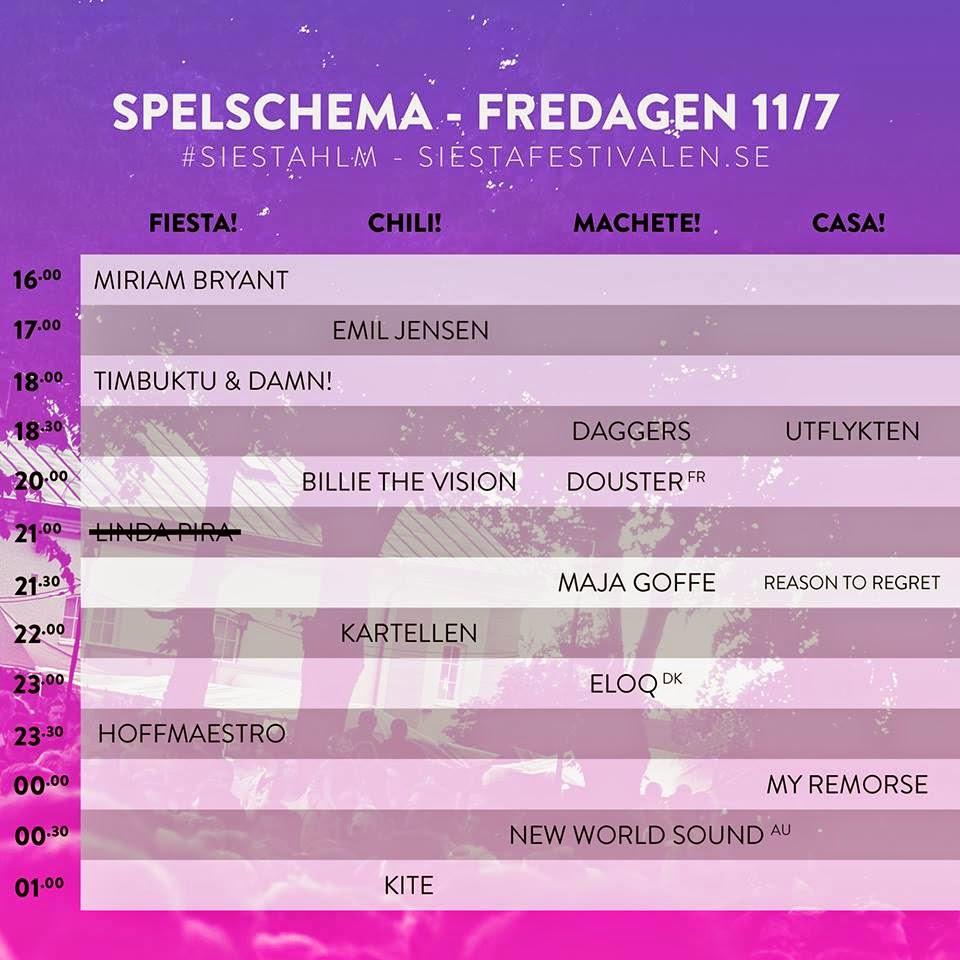 siestafestivalen, Siestafestivalen 2014, SiestaHlm, #SiestaHlm, Hässleholm, Sösdala, Barnfamilj, Musik, Glädje i hjärtat, spelschema