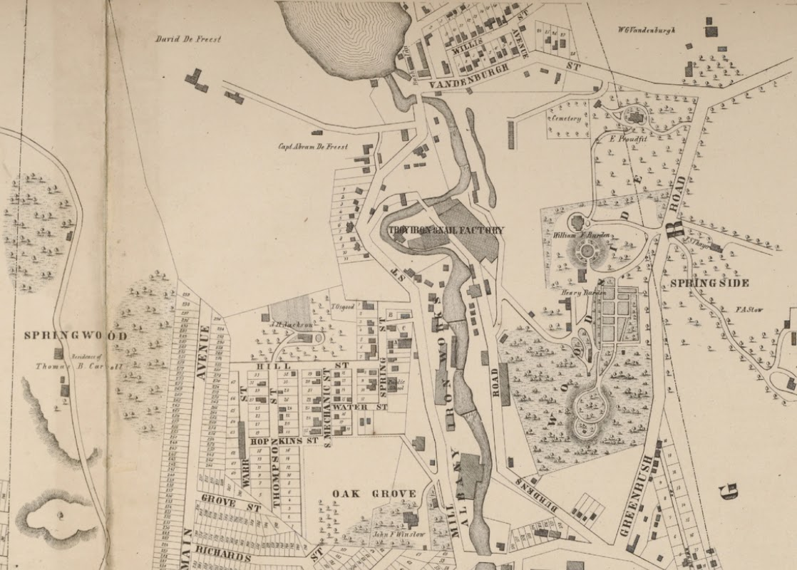 map of the city of troy troy ny 1869 map itself dated 1858 http digitalcollections nypl org items 510d47e3 4f37 a3d9 e040 e00a18064a99