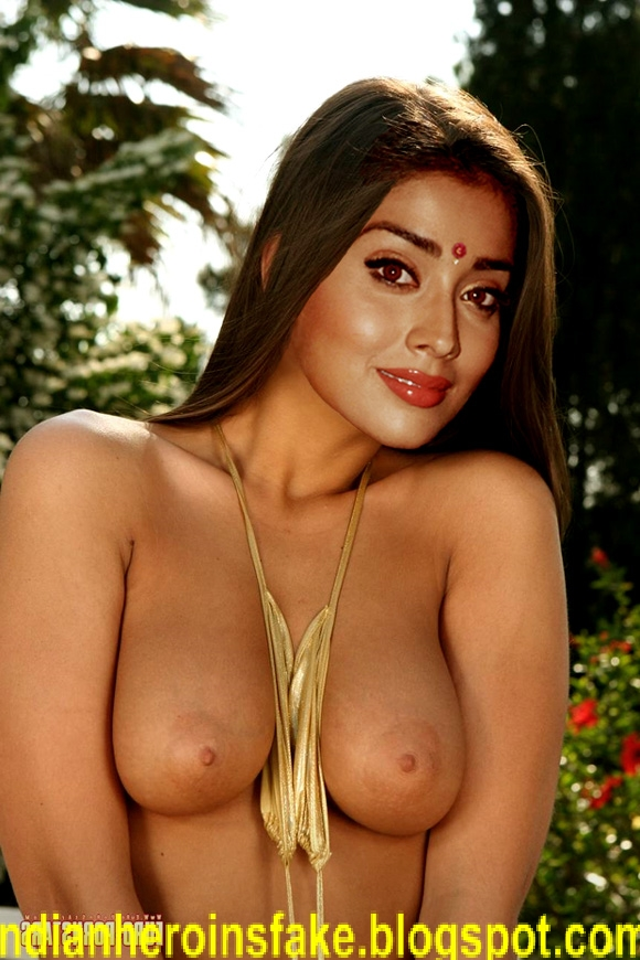 South Star Shreya Sarn Bathing Nude Showing Boobs And Nipples Fake
