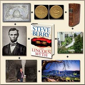 the lincoln myth steve berry combo collage
