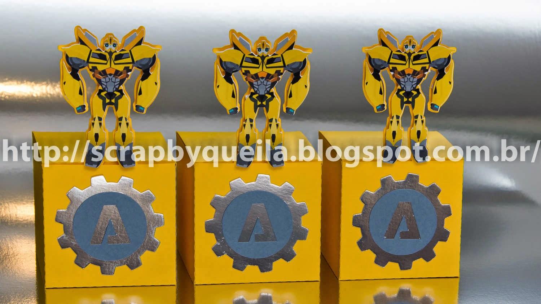 Arte em Papel Festa linda no tema Transformers! Um desafio que valeu