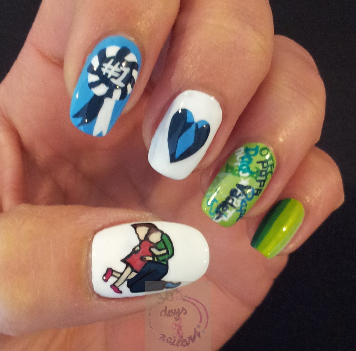 365+ days of nail art: Day 167) Nail art Father\'s Day