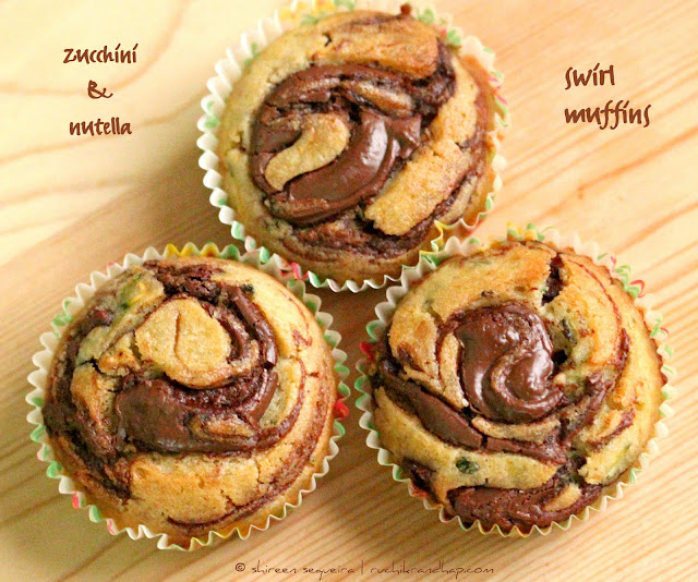 Ruchik Randhap (Delicious Cooking): Zucchini & Nutella Swirl Muffins