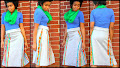 Gray A-line Kente Skirt