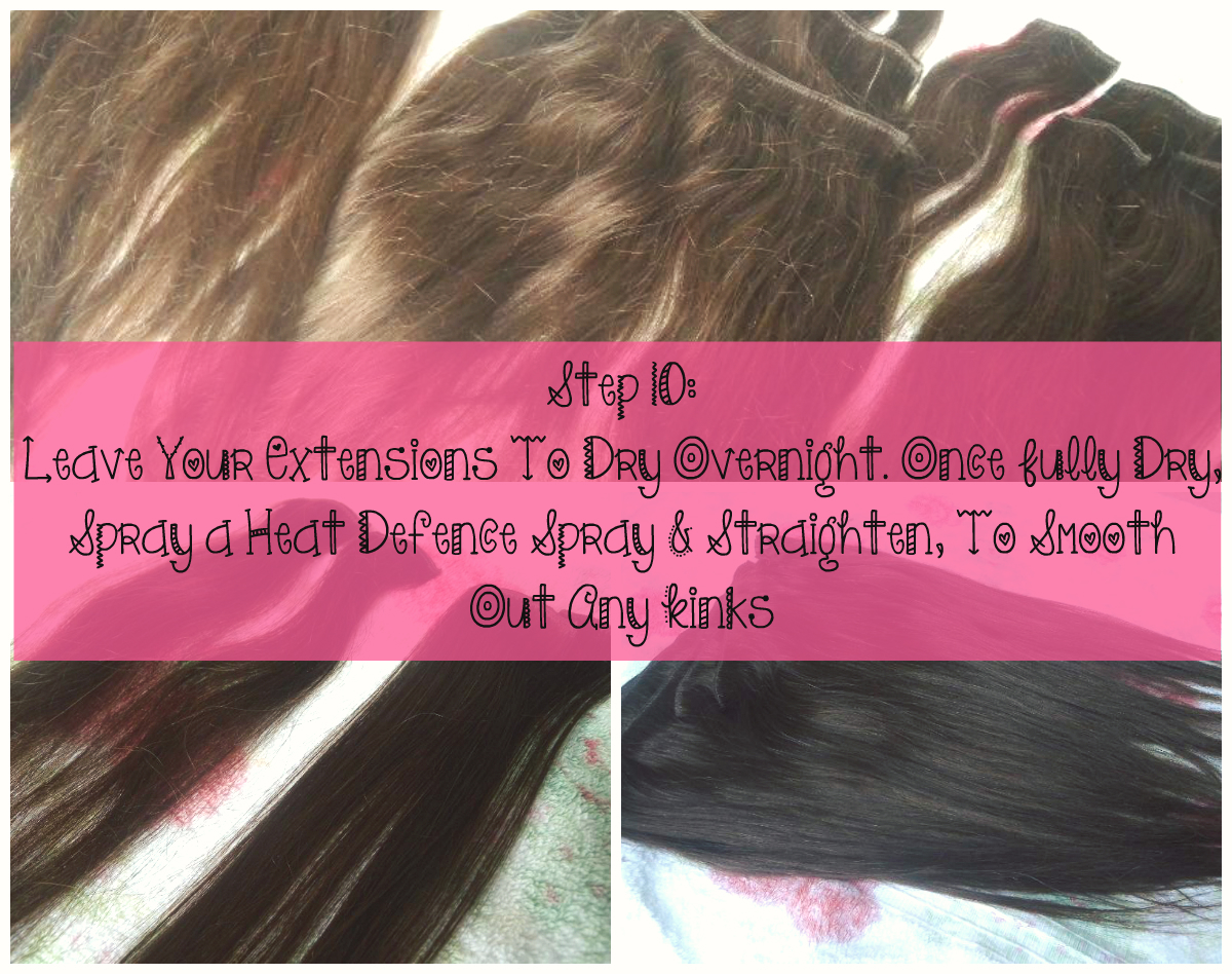 Halo hair extensions washing maintaining them miss sunshine as you can see from the picture above this separates the hair which speeds up the drying time and helps your hair extensions to dry straight pmusecretfo Image collections
