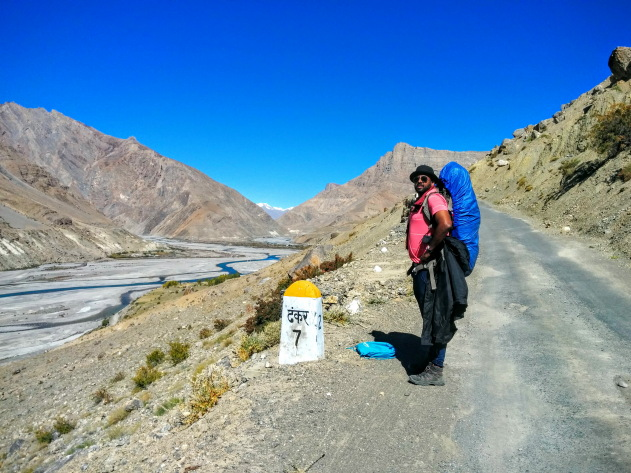Hiking to the beautiful village of Dhankar in Spiti Valley