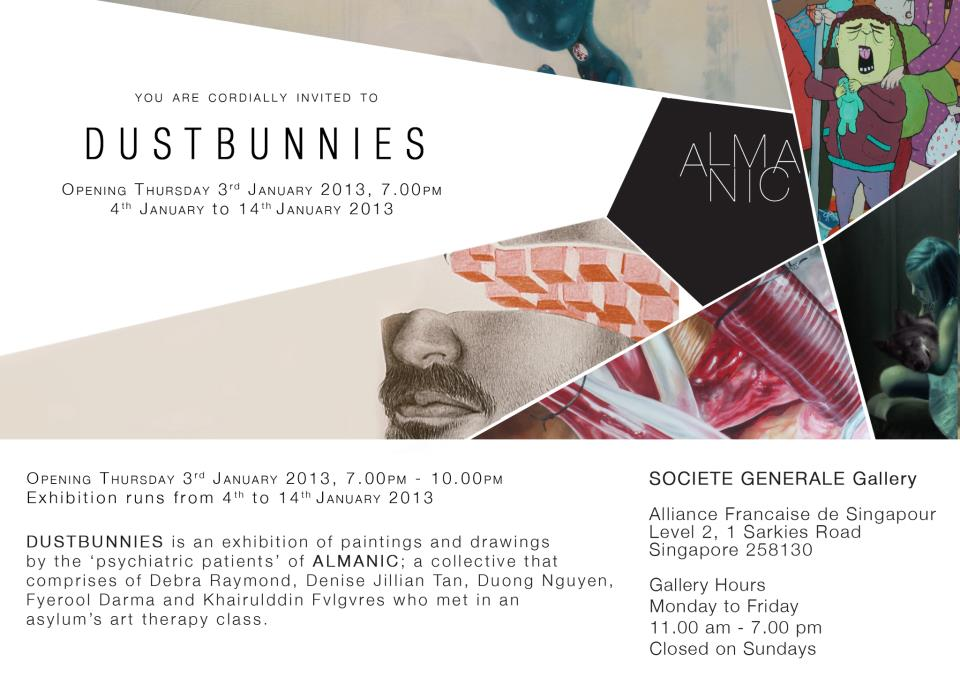 Almanic - Dustbunnies in Societe Generale Gallery, 1 Saskies Rd