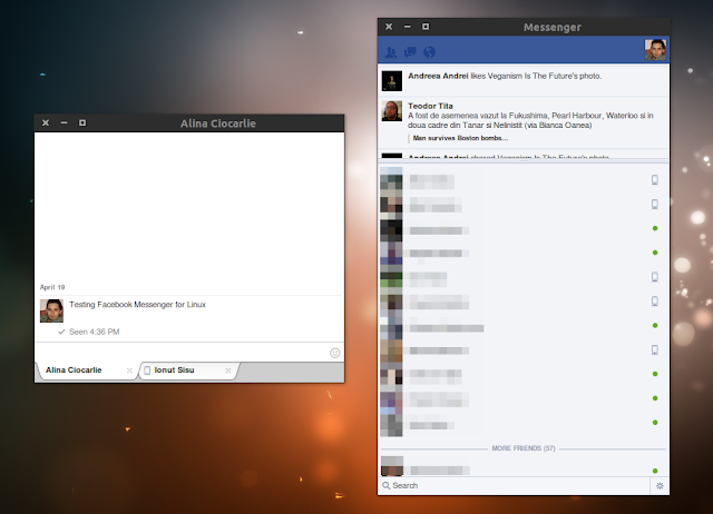 Linux 的準官方 Facebook 聊天軟體:FBMessenger