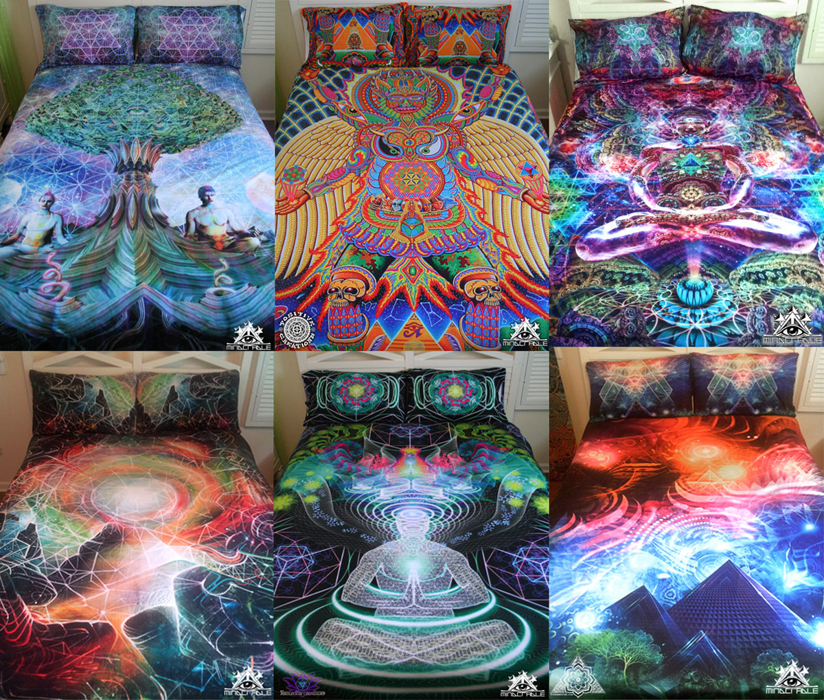 Freelance lady visionary art psychedelic bedding sets and home decor from mindcradle - Home decorated set ...