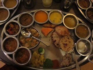 Rajasthani thali cuisine food in kolkata