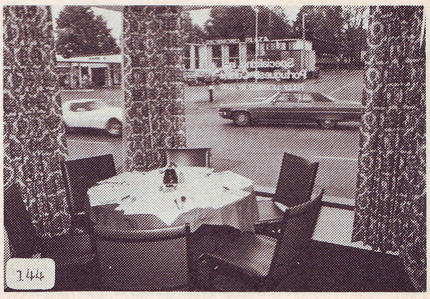 "The front table at Sagres (from ""The Key Ottawa/Hull 1979"")"