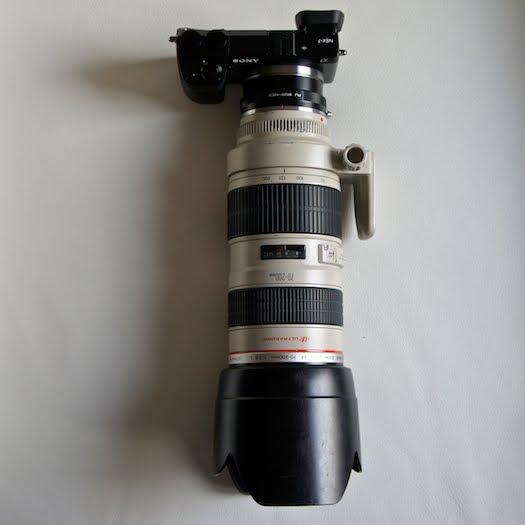 sony nex-7 canon 70-200mm ef eos