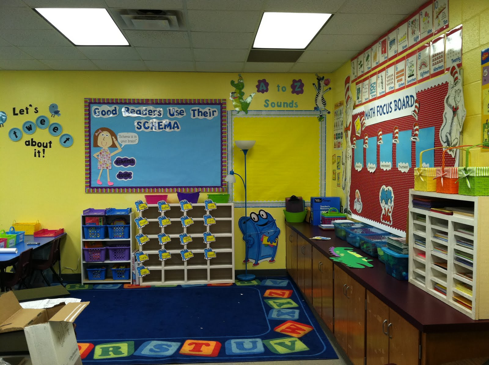 Home Classroom Design ~ Life in first grade classroom decorating day seven