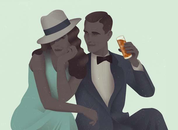 Ilustração vintage de Jack Hughes