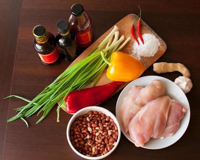 Ингредиенты для курицы кунг пао