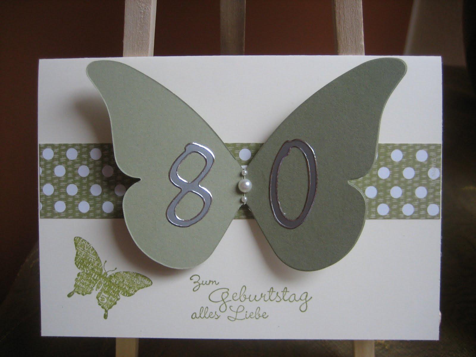 Ingeborgs-Bastelecke: 80. Geburtstag