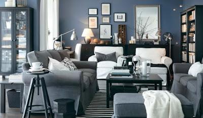 sala muebles gris
